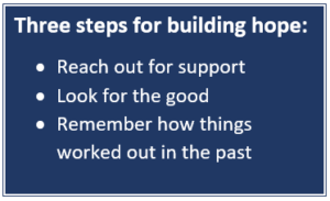 Three steps for building hope, by Dr. Shannon Warden